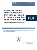 Promoting Gender Mainstreaming and Prevention of Sexual Exploitation and Abuse in Host Nation Police Forces (CR 09-001)