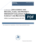 Forced Displacement and Housing, Land, and Property Ownership Challenges in Post-Conflict and Reconstruction (CR 09-003)