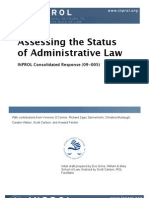 Assessing the Status of Administrative Law (CR 09-005)
