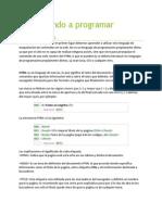 Aprendiendo a Programar- CAPITULO 1