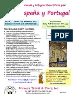 Peregrinación Santuarios Marianos y Milagros Eucaristicos - Fray Anibal Rosario, OfM, Cap. - Sept. 2015