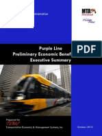 Purple Line Preliminary Economic Benefits Study Executive Summary
