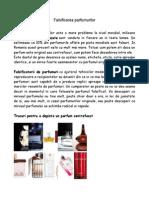 Falsificarea Parfumurilor