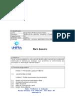 PLANO ENSINO Matriz de Avaliação Ambiental e Plantio Florestal