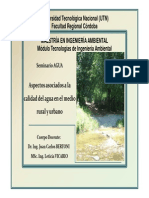 Calidad Del Agua en Areas Urbanas y Rurales