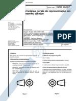 NBR10067 - Princípios Gerais de Representação Em Desenho Técnico