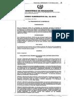 Acuerdo Gubernativo 36-2015 Cuotas MINEDUC