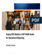 4114 Deploy Rapid Deployment Solutions RDS Models in SAP HANA Studio for Operational Reporting