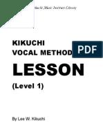 Kikuchi Voice Lesson - Level 1