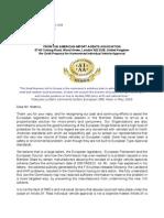 Letter 21st January 2010