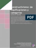 Constructivismo de Clasificaciones y Categorías (Leandro Sáchez)