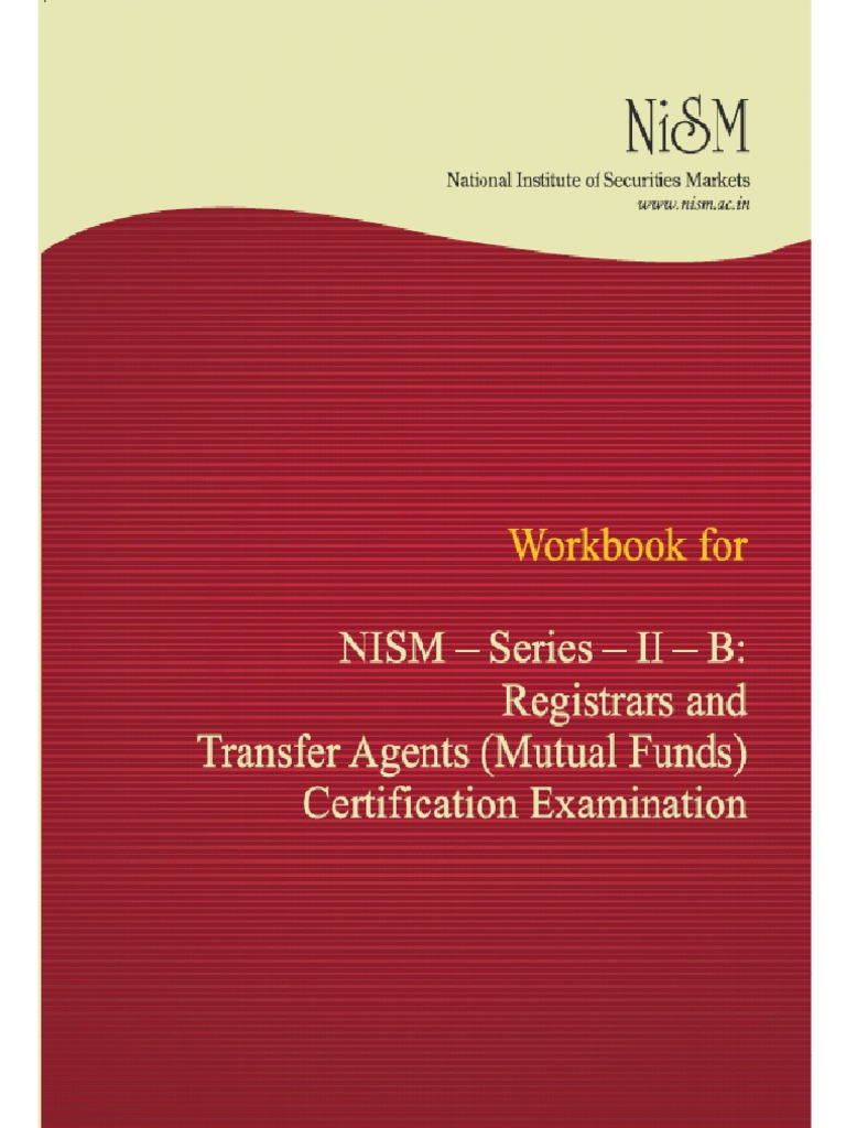 Workbooks the outsiders workbook : Workbook for NISM-Series-II-B: Registrars to an Issue | Financial ...