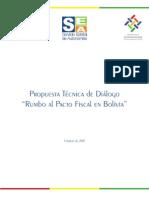 "Propuesta técnica de diálogo ""Rumbo al Pacto Fiscal en Bolivia"""