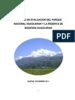 Reporte de Evaluación Del Parque Nacional Huascaran