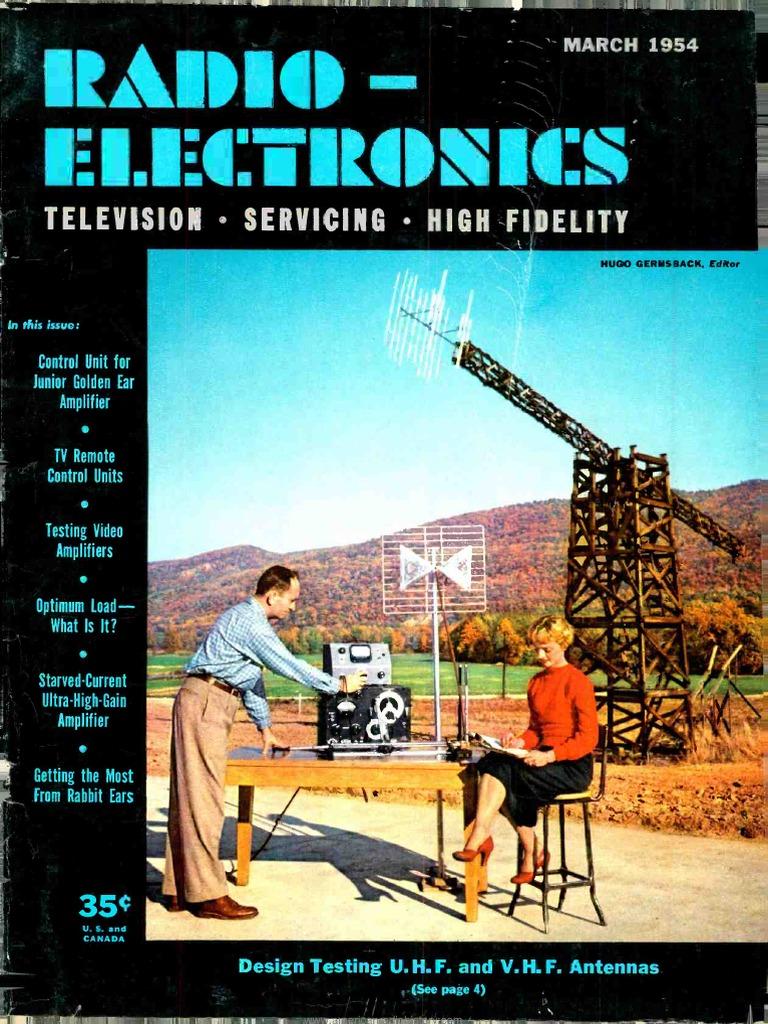 Radio Electronics 1954 03 | Vacuum Tube | Television