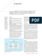 Testing for Helicobacter Pylori Infection - Validation and Diagnostic Yield of a Near Patient Test in Primary Care