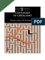 Teoría crítica de la literatura, por Constanzo Girolamo