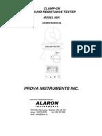 Manual de Operación Terrometro de Gancho