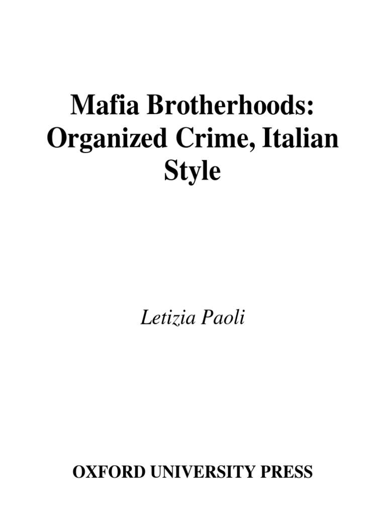 Mafia Brotherhoods | Sicilian Mafia | American Mafia