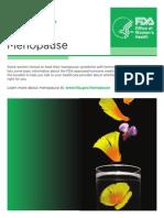 Menopause - Medicines to Help You 2013