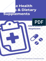 Miracle Health Claims and Dietary Supplements
