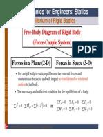 Chapt04 Lecture - Equilibrium of Rigid Bodies