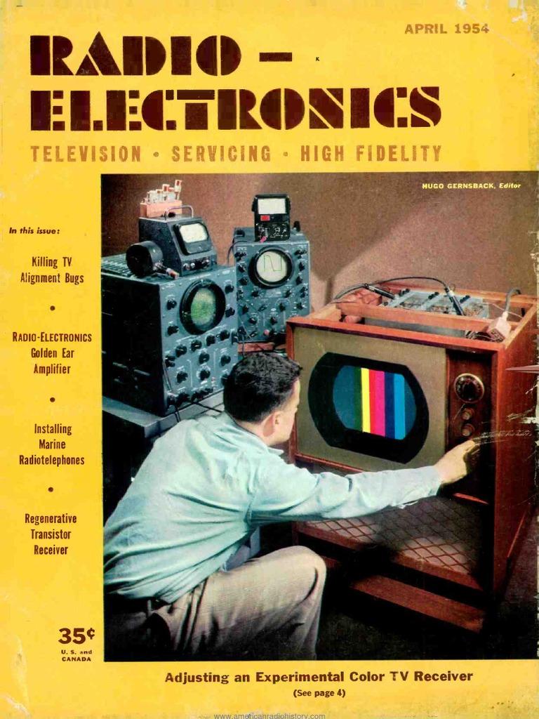 Radio Electronics 1954 04 Loudspeaker Television Higain Speaker Listening Amplifier Circuit Kit Aa5