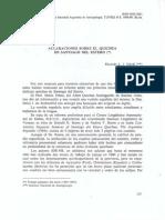 Nardi, R. J. (1988) Aclaraciones Sobre El Quichua de Santiago Del Estero