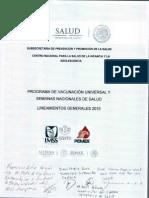 LINEAMIENTOS PVU y SNS 2015