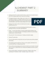 The Alchemist Part 2 Summary English - Resumen Libro El alquimista Paulo Coelho