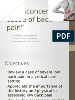 Critical Care and ER Lower Back Emergencies