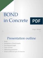 BOND in Concrete