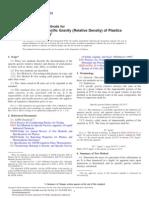 ASTM D792 Densidad de Polimeros