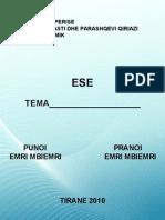 Shkrimi i Eseve. Nga. Dr, Mba. Enriko Ceko