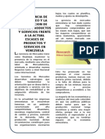 La gerencia de mercadeo y la Generacion de nuevos productos y servicios frente a la actual escases de productos y servicios en venezuela