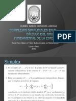 COMPLEJOS SIMPLICIALES EN EL C-¦ÁLCULO