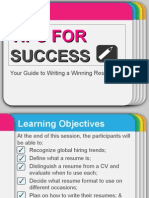 Tips for Success Resume Writing