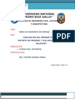 Evaluacion Del Drenaje Pluvial en El Distrito de Piemenel y Sus Alternativas de Solucion
