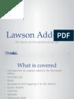 Lawson Microsoft Addins