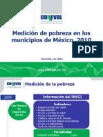 Medicion de Pobreza Municipios Mexico 2010