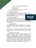 COMO ANALIZAR UNA ARGUMENTACION JURIDICA PROCESAL CIVIL - JOSÉ ALCAZAR.doc