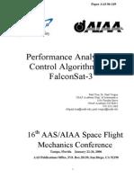 Performance Analysis of Contol Algorithms for FalconSat-3 - Vergez