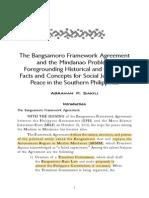 Sakili-Bangsamoro Framework Agreement Historical Cultural Facts Social Southern Philippines