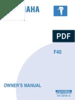 Yamaha F40 Owners Manual