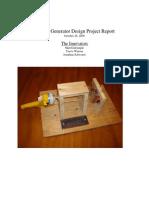 Electric Generator Design Project