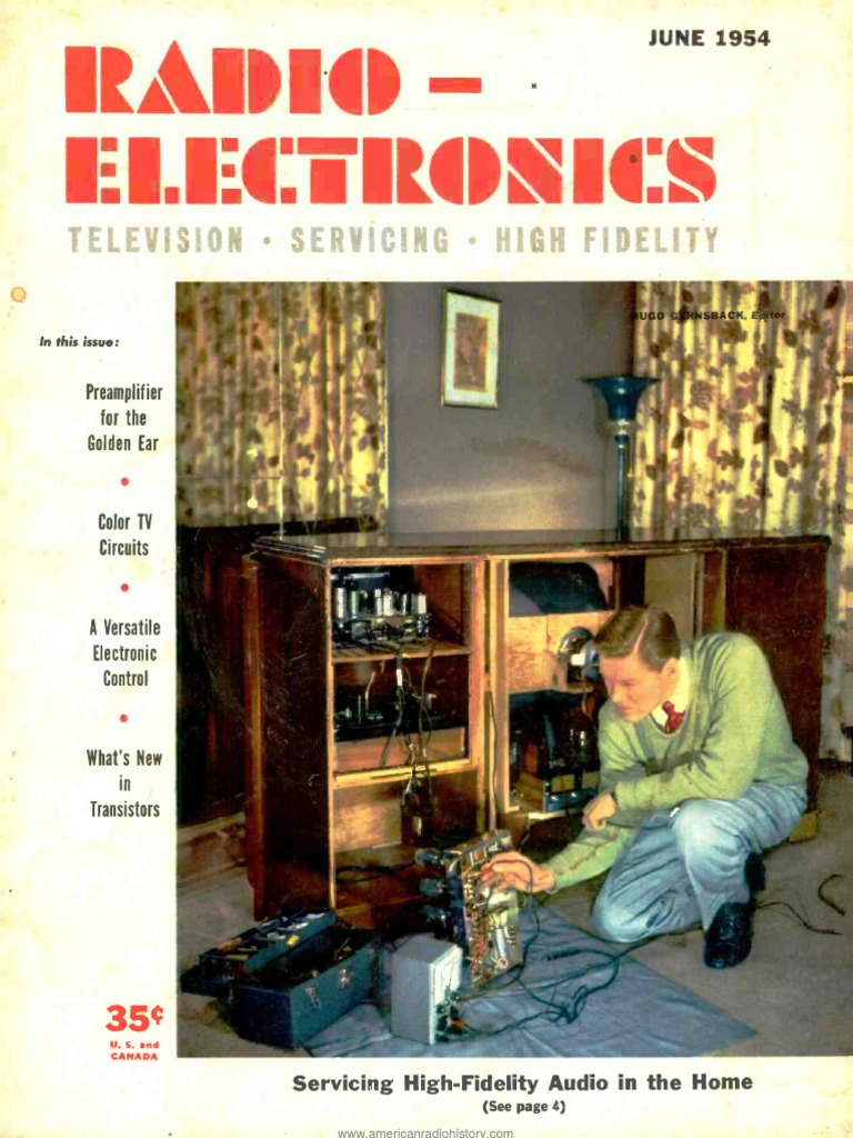Radio Electronics 1954 06 Television Vacuum Tube Electron Industrial Wiring Diagram