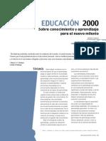 Educacion 2000 Sobre Conocimiento Aprendizaje Para El Nuevo Milenio Roberto Carneiro