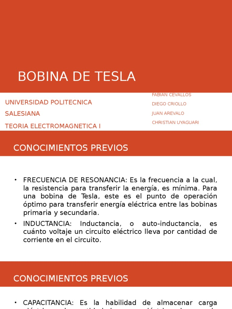 Circuito Bobina De Tesla : Bobina de tesla