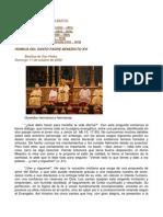 Homilía de La Canonización Juana Jugan Benedicto Xvi