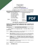 002-2013 Gen. Ordinance - Creating Plantilla Position